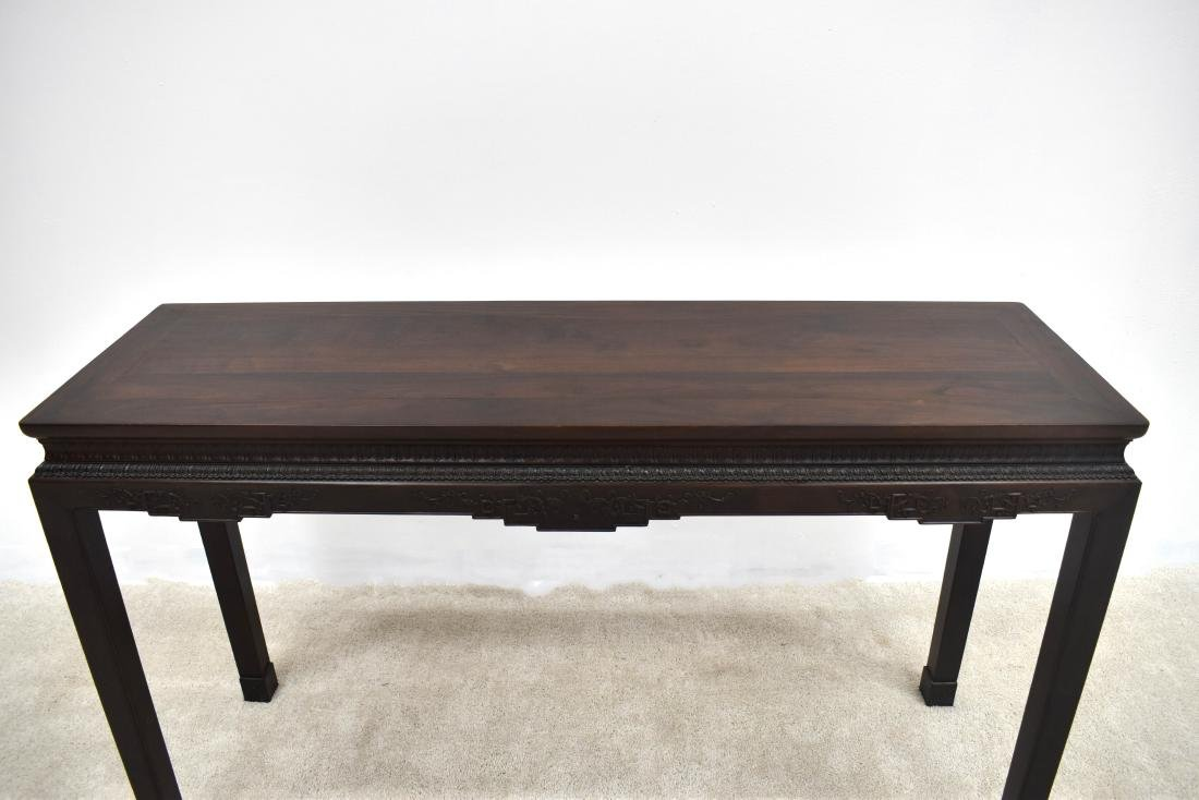 19TH C ZITAN WAITED PAINTING TABLE - 4