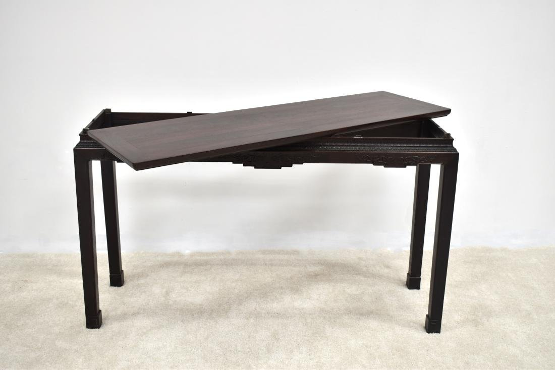 19TH C ZITAN WAITED PAINTING TABLE - 9