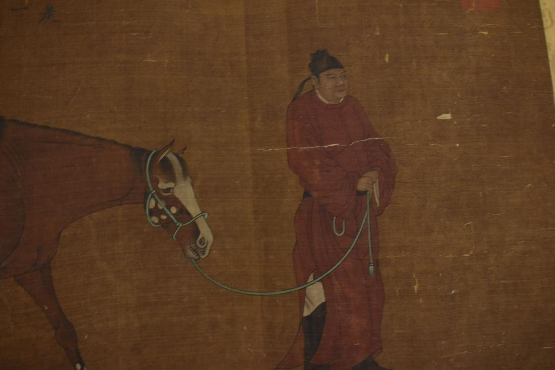 CHINESE QING DYNASTY SPOTTED CELESTIAL HORSE PAINTING - 11