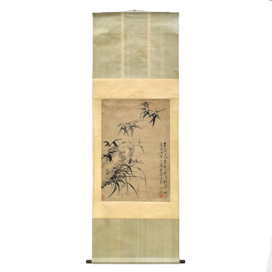 CHINESE SCROLL PAINTING OF BAMBOO SHOOTS - 2