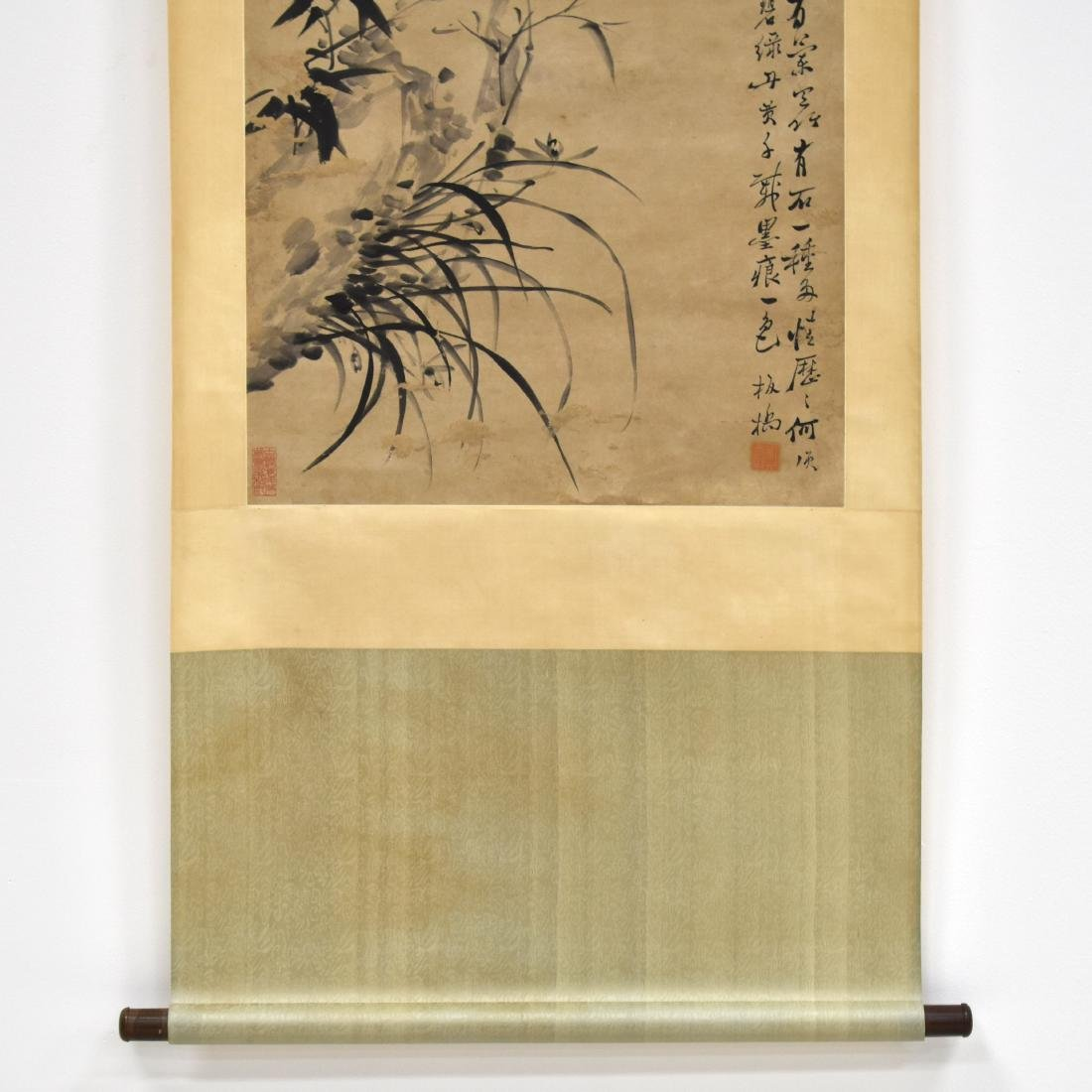 CHINESE SCROLL PAINTING OF BAMBOO SHOOTS - 4