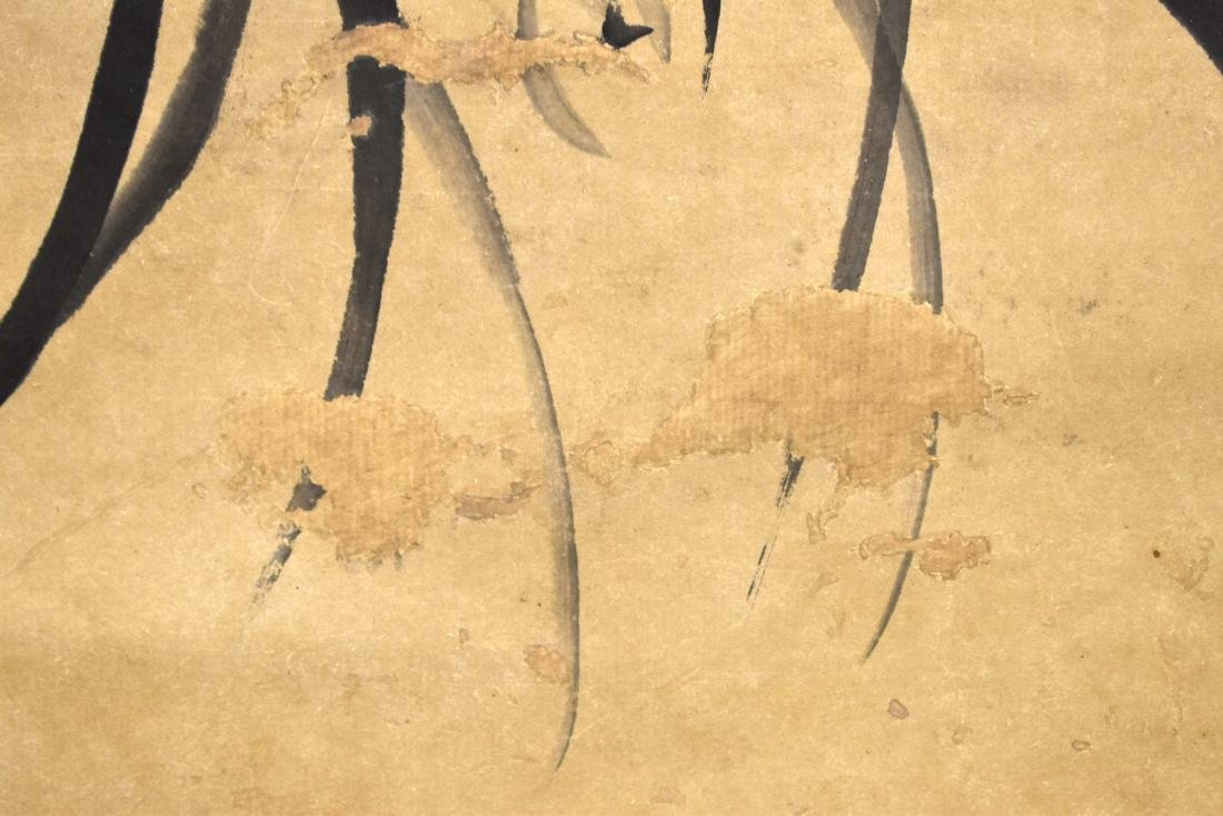 CHINESE SCROLL PAINTING OF BAMBOO SHOOTS - 6