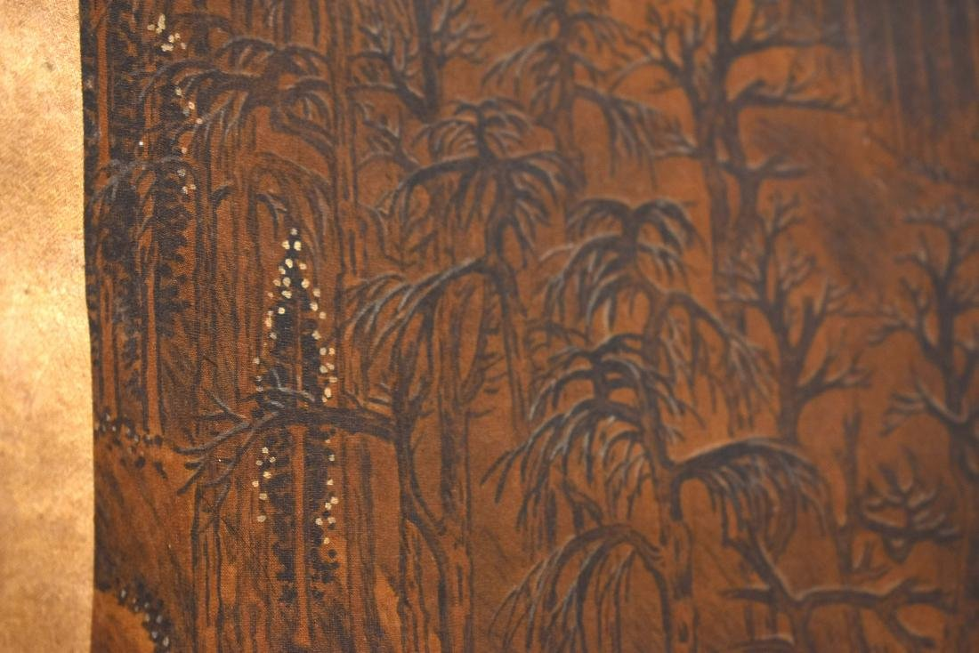 QING DYNASTY SCROLL PAINTING OF A MOUNTAIN PATH - 10