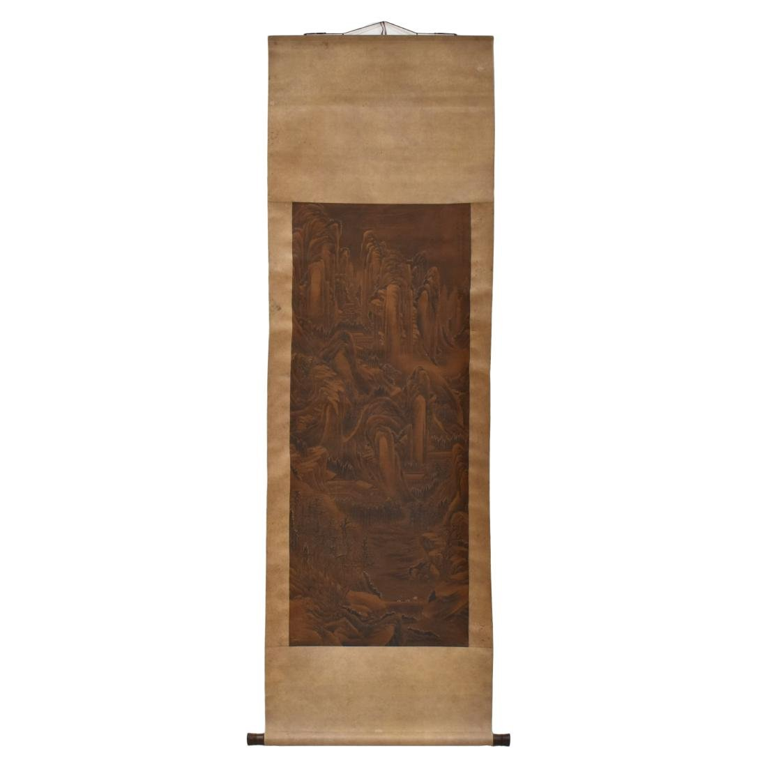 QING DYNASTY SCROLL PAINTING OF A MOUNTAIN PATH - 2