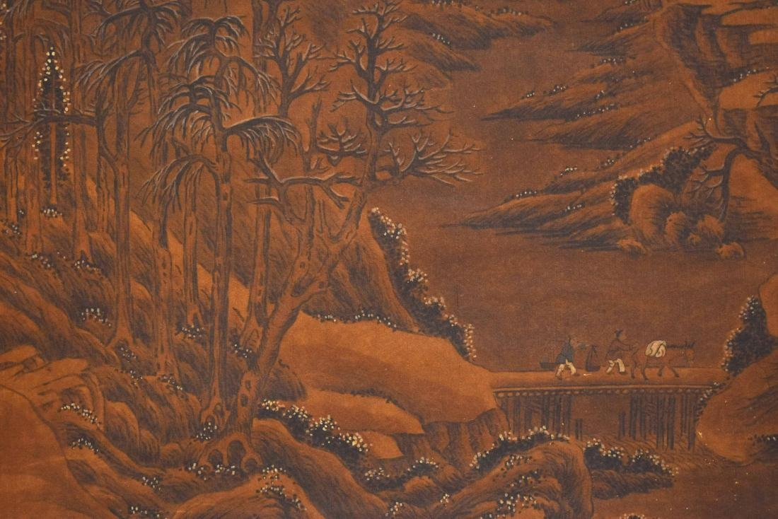 QING DYNASTY SCROLL PAINTING OF A MOUNTAIN PATH - 3