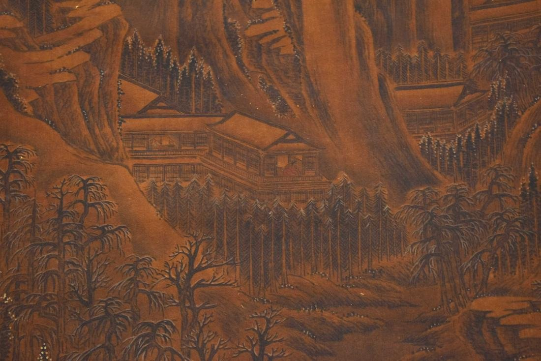 QING DYNASTY SCROLL PAINTING OF A MOUNTAIN PATH - 4