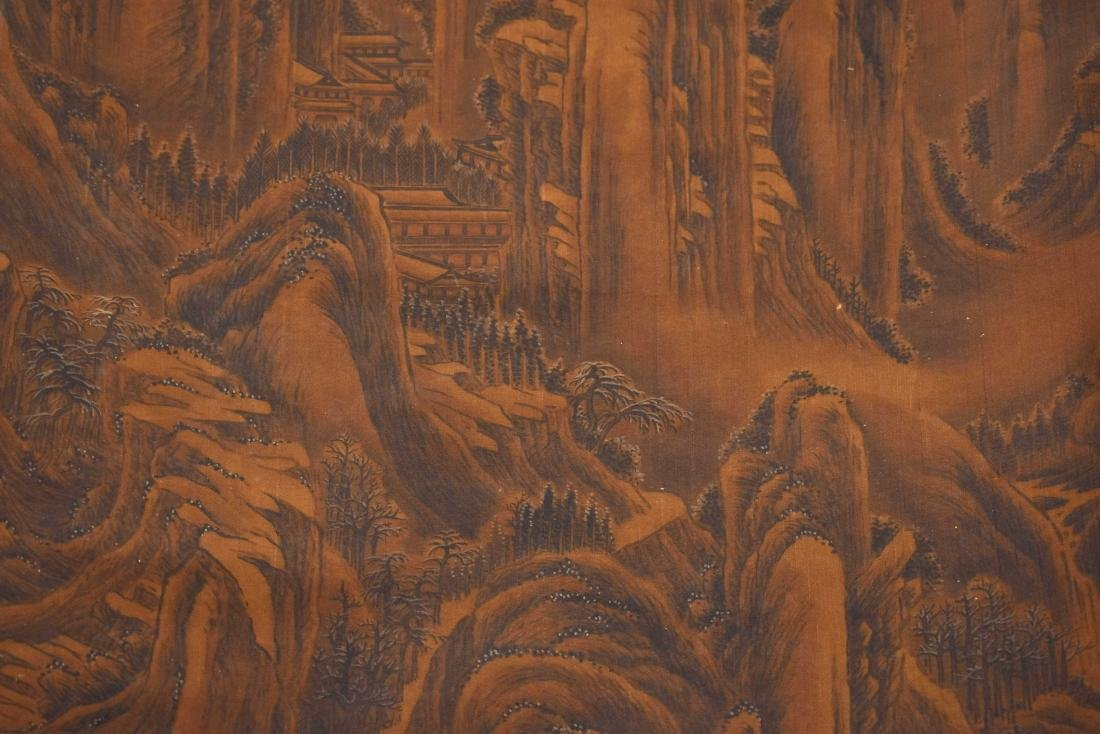 QING DYNASTY SCROLL PAINTING OF A MOUNTAIN PATH - 5