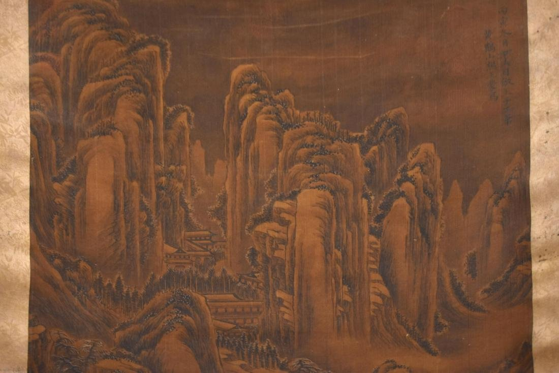 QING DYNASTY SCROLL PAINTING OF A MOUNTAIN PATH - 6