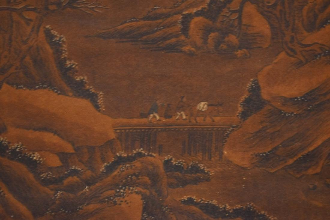 QING DYNASTY SCROLL PAINTING OF A MOUNTAIN PATH - 7