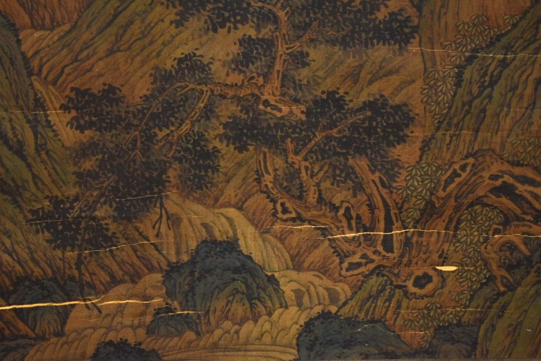 CHINESE QING DYNASTY PAINTING OF MOUNTAIN TRAVELERS - 4