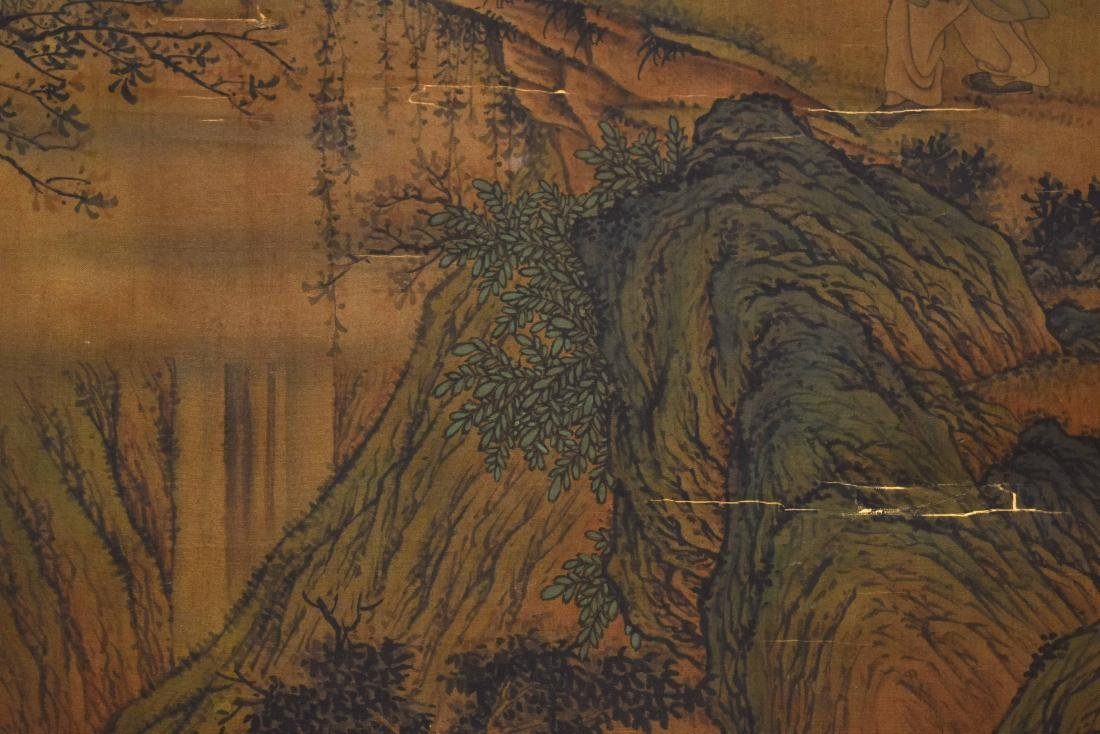 CHINESE QING DYNASTY PAINTING OF MOUNTAIN TRAVELERS - 5