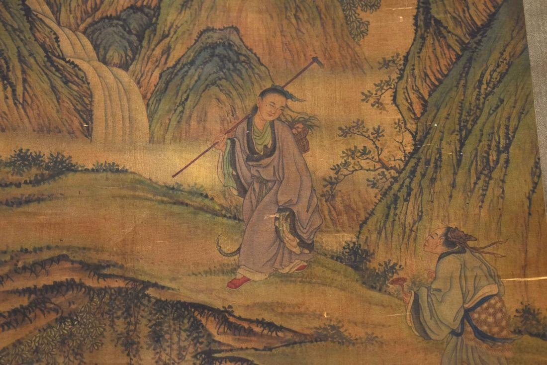 CHINESE QING DYNASTY PAINTING OF MOUNTAIN TRAVELERS - 6