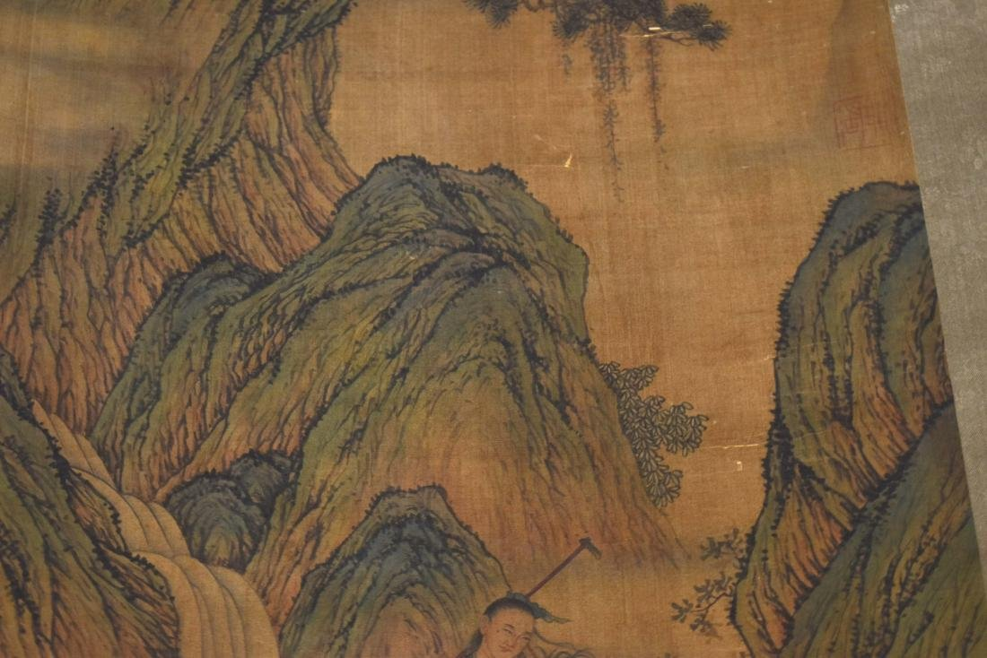 CHINESE QING DYNASTY PAINTING OF MOUNTAIN TRAVELERS - 7