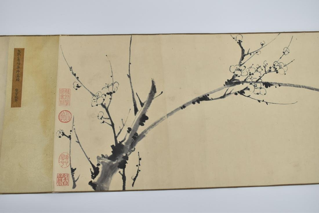 BEAUTIFUL CHINESE LONG HAND SCROLL PAINTING OF CHERRY - 5