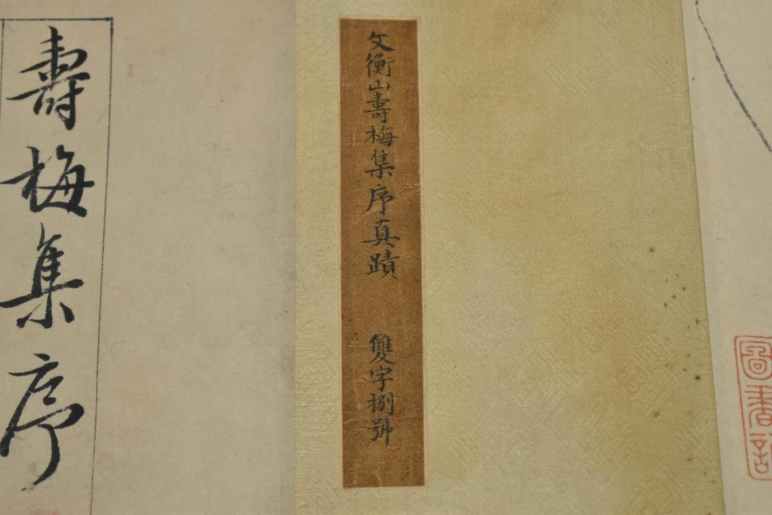 BEAUTIFUL CHINESE LONG HAND SCROLL PAINTING OF CHERRY - 6