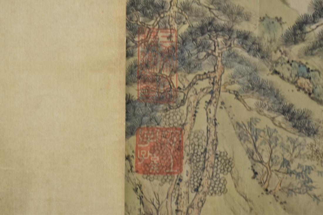 RARE CHINESE WATERFALL LONG HAND SCROLL PAINTING - 9