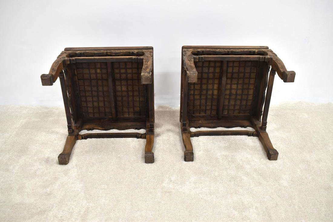 18/19TH C PAIR CHINESE HUANGHUALI LOW CHAIRS - 11