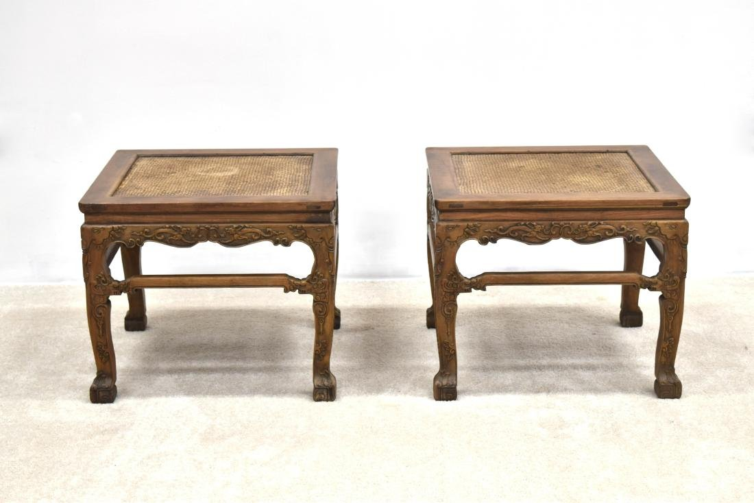 18/19TH C PAIR CHINESE HUANGHUALI LOW CHAIRS - 12