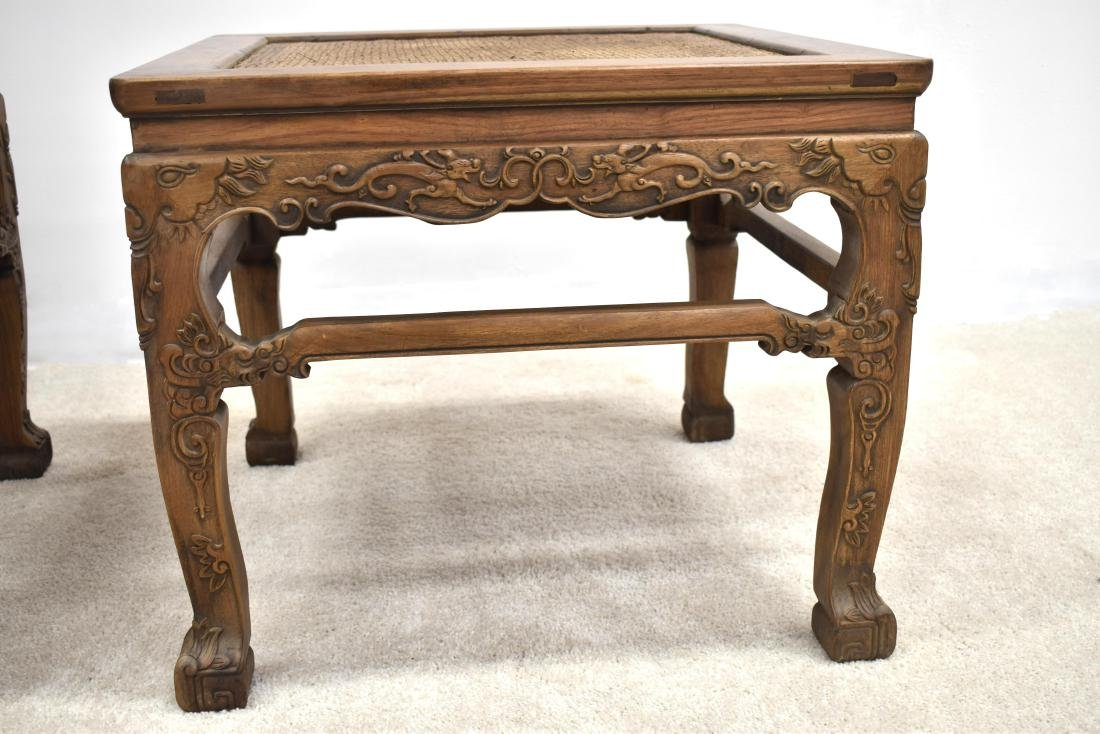 18/19TH C PAIR CHINESE HUANGHUALI LOW CHAIRS - 4