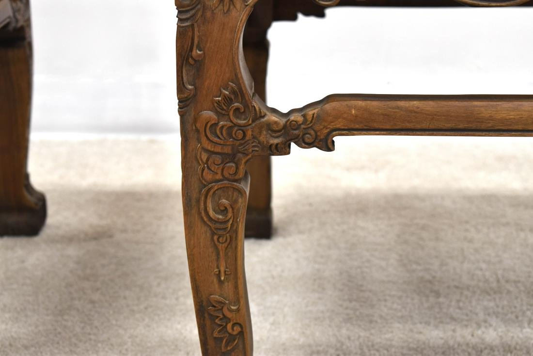 18/19TH C PAIR CHINESE HUANGHUALI LOW CHAIRS - 6