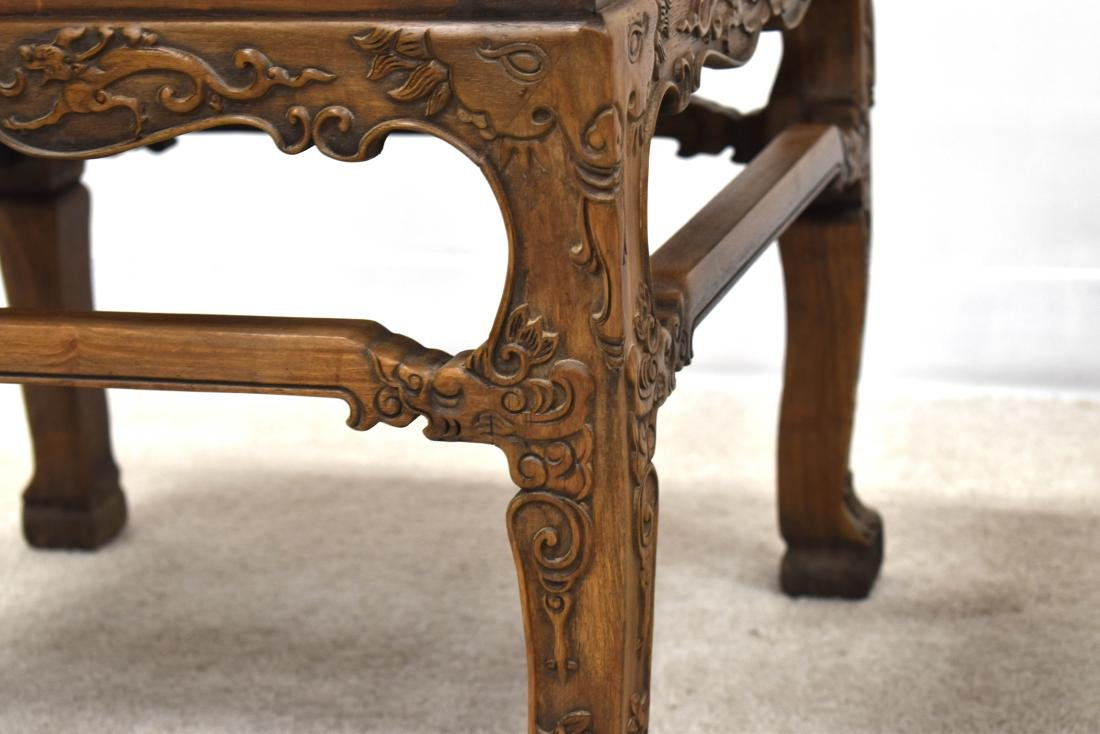 18/19TH C PAIR CHINESE HUANGHUALI LOW CHAIRS - 7