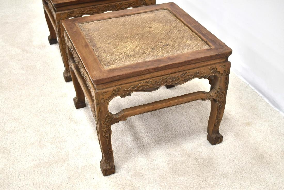 18/19TH C PAIR CHINESE HUANGHUALI LOW CHAIRS - 9
