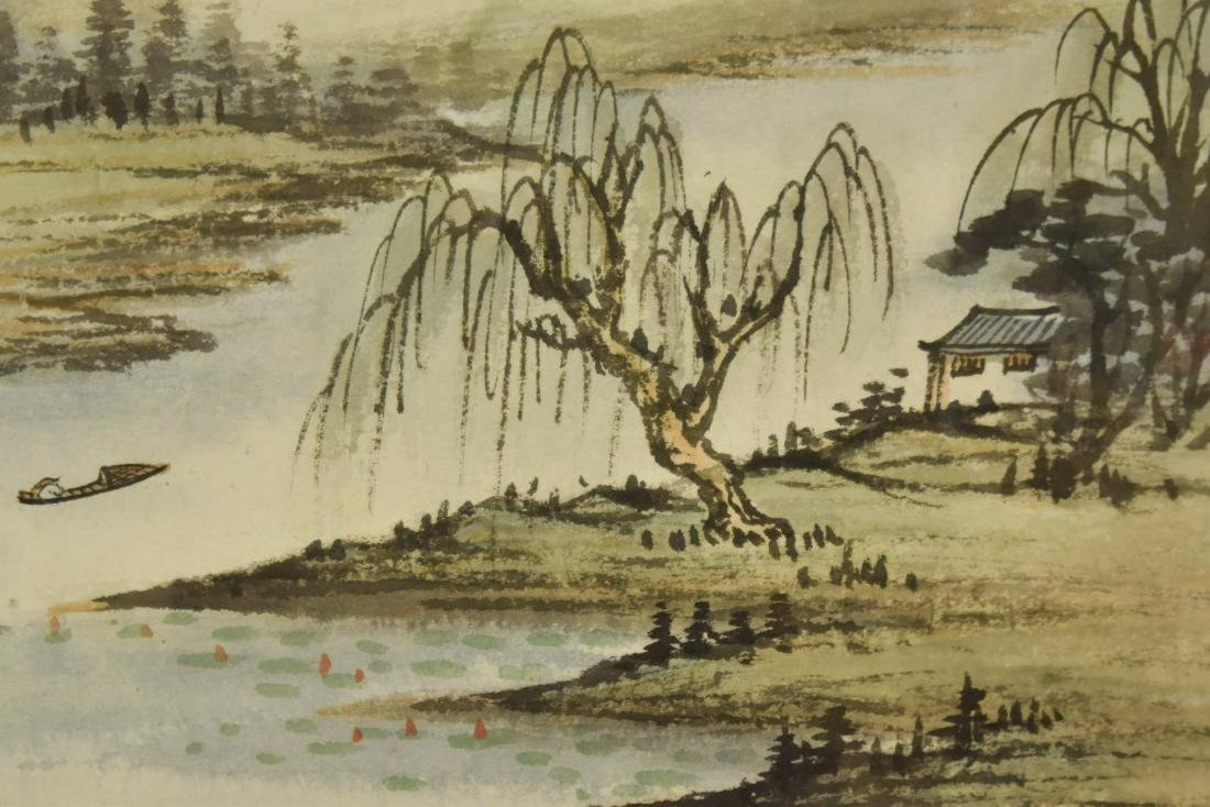 PAIR OF FRAMED CHINESE LANDSCAPE PAINTINGS - 10