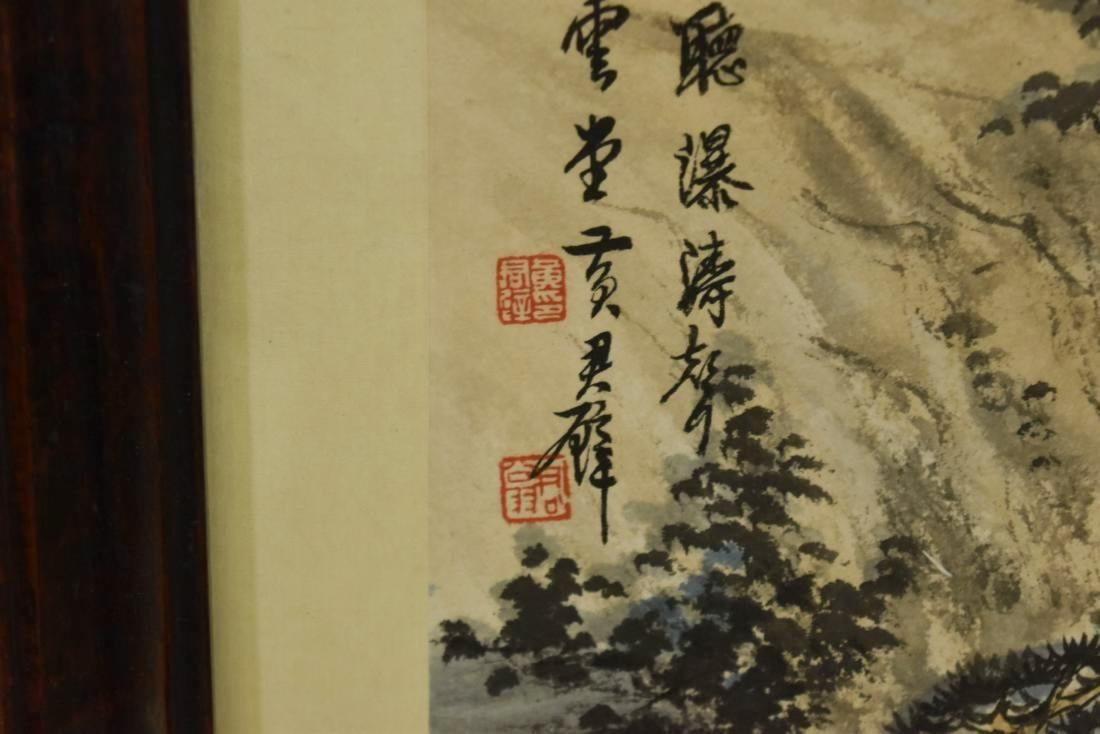 PAIR OF FRAMED CHINESE LANDSCAPE PAINTINGS - 5