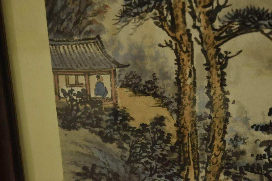 PAIR OF FRAMED CHINESE LANDSCAPE PAINTINGS - 6