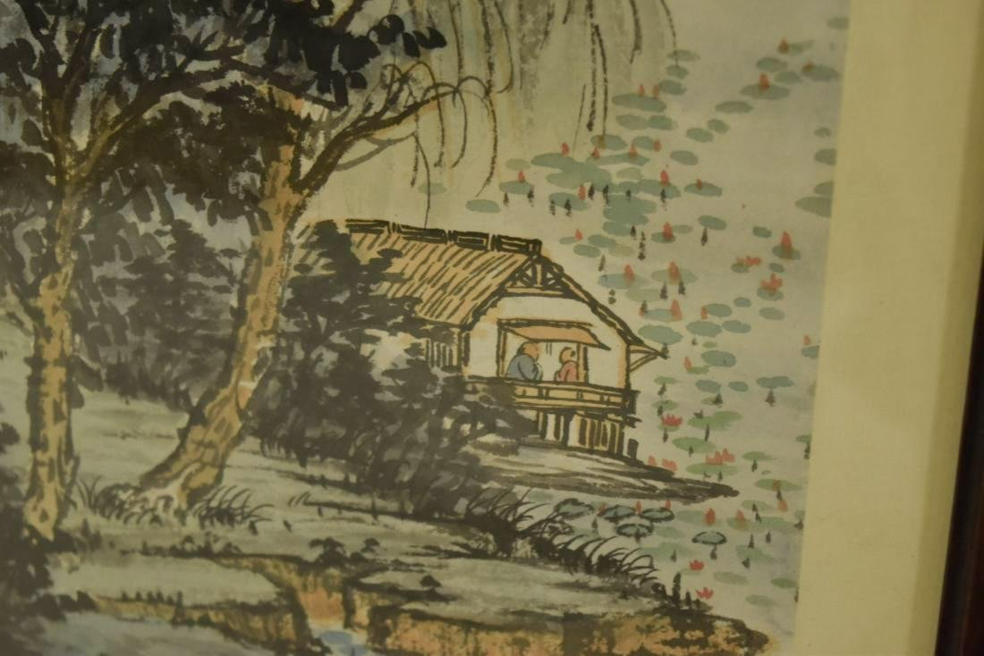 PAIR OF FRAMED CHINESE LANDSCAPE PAINTINGS - 9