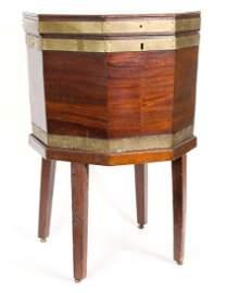 George III Mahogany Octagonal Wine Cellarette