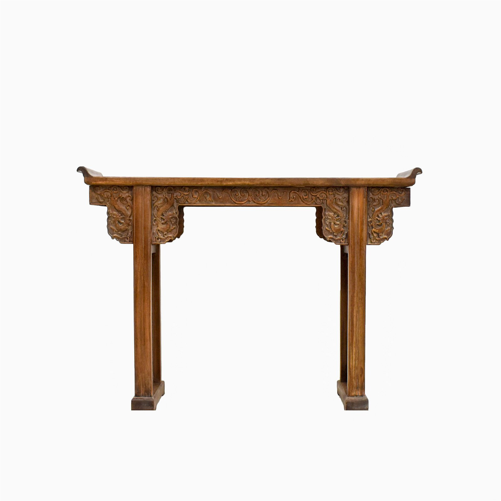 ANTIQUE CHINESE HUANGHUALI EVERTED RIM ALTAR TABLE