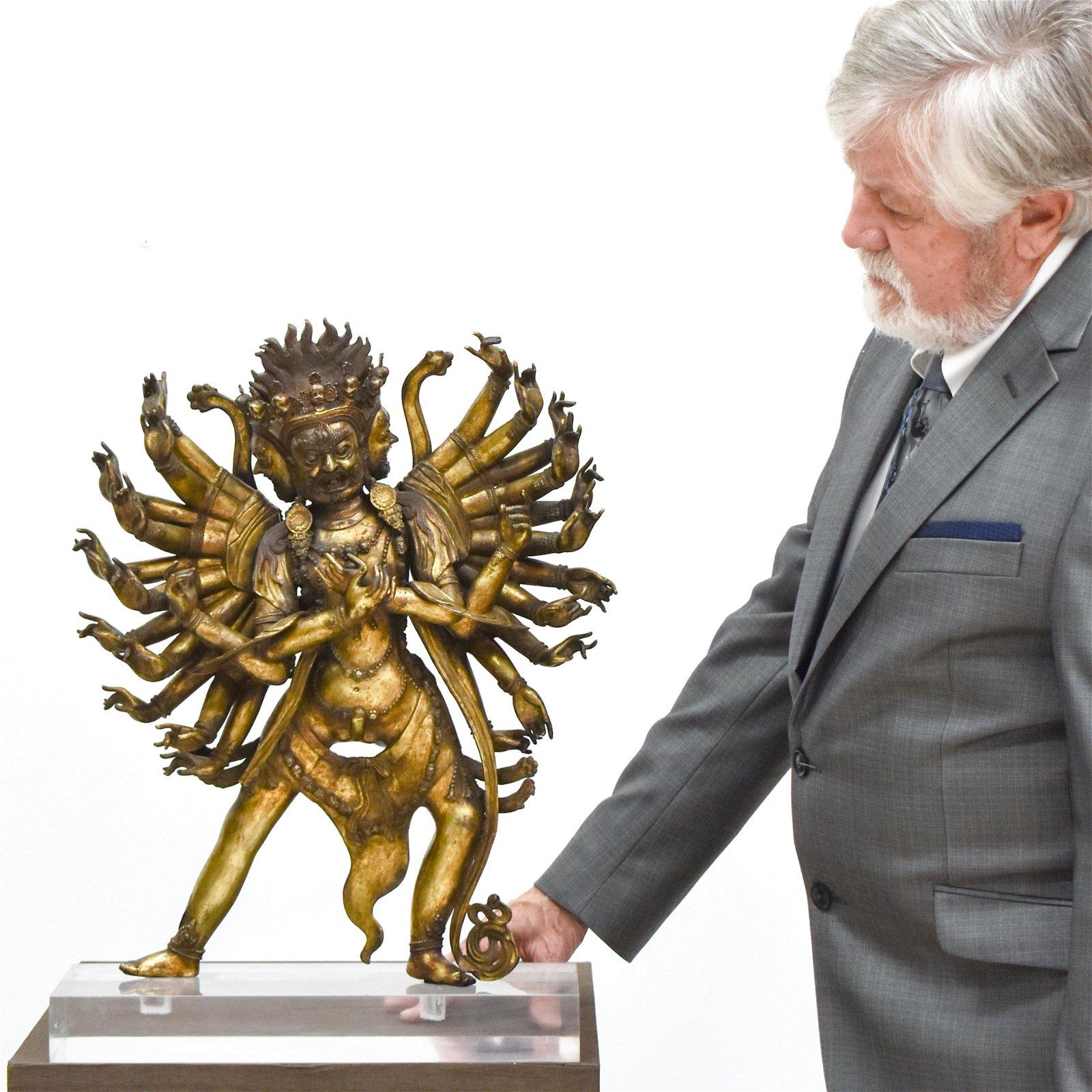 MING GILT BRONZE BUDDHA VAJRAVEGA