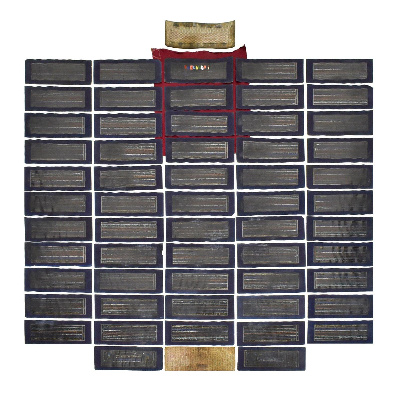 LACQUERED BUDDHIST SUTRA ALBUM