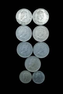 9 FOREIGN HONG KONG COINS