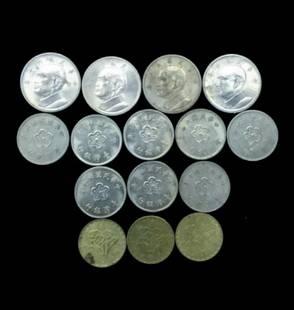 15 TAIWAN REPUBLIC 60 COINS