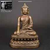 MING BRONZE SEATED SHAKYAMUNI BUDDHA
