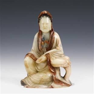 SHOUSHAN CARVED GUANYIN STATUE