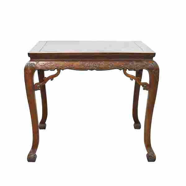 HUANGHUALI CABRIOLE LEGS SQUARE TABLE