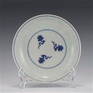 CHENGHUA BLUE & WHITE PORCELAIN PLATE