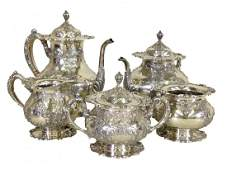 Set of 6 Six pcs Frank Whiting Sterling Silver Tea