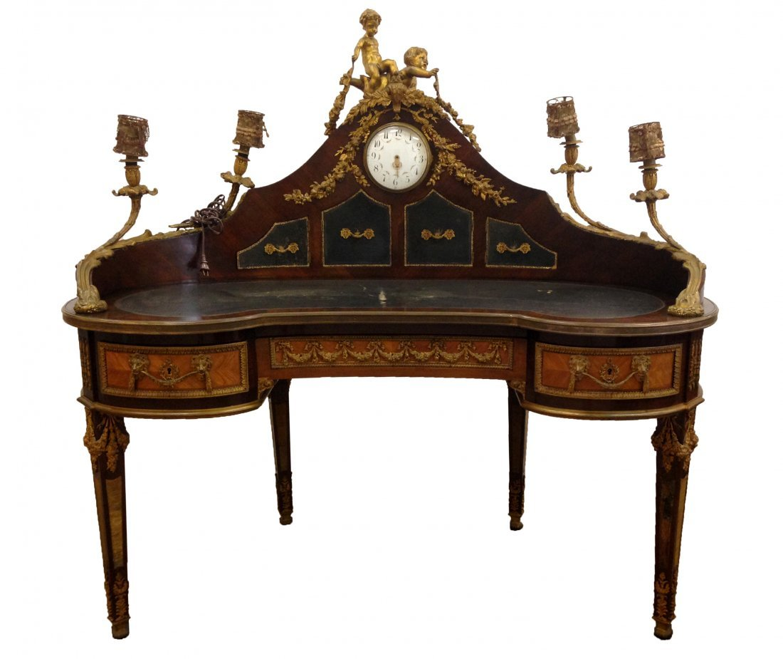 French Louis XV style  bureau à rognon Desk