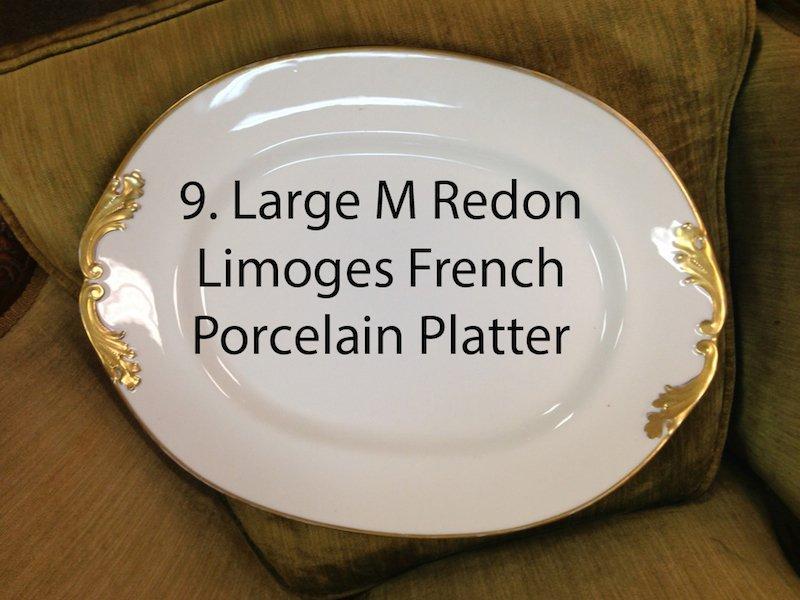 Large M Redon Limoges French Porcelain Platter