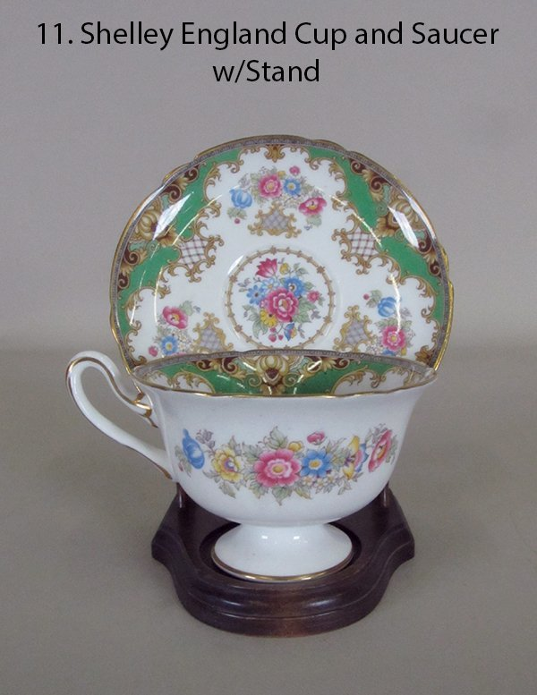 Shelley England Cup and Saucer w/Stand