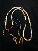 A PEARL IMPERIAL COURT CHAOZHU  NECKLACE