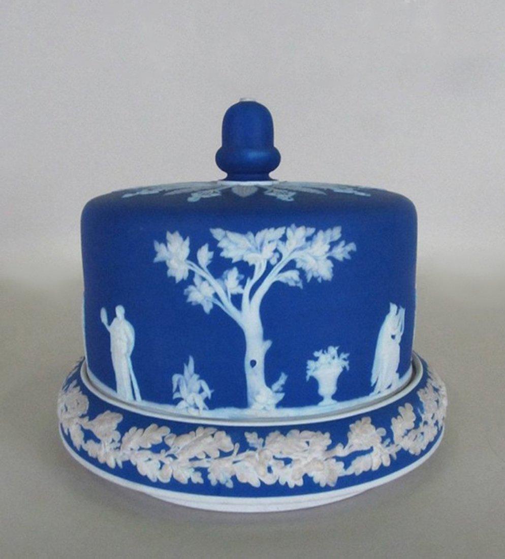 Wedgewood Jasper ware covered cake plate.