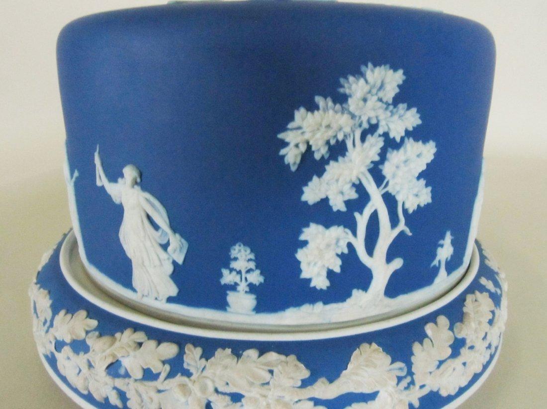Wedgewood Jasper ware covered cake plate. - 6