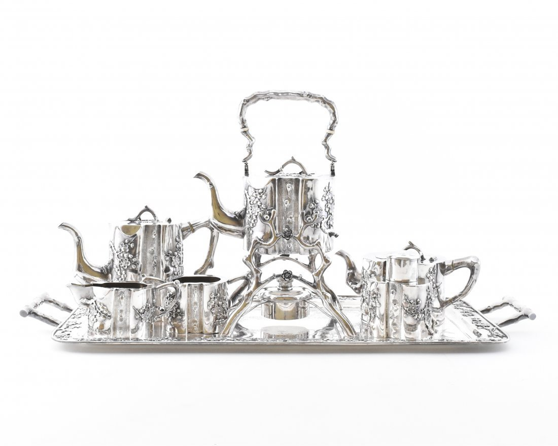 CA. 1912,  CHINESE EXPORT SILVER TEA & COFFEE SERVICE,