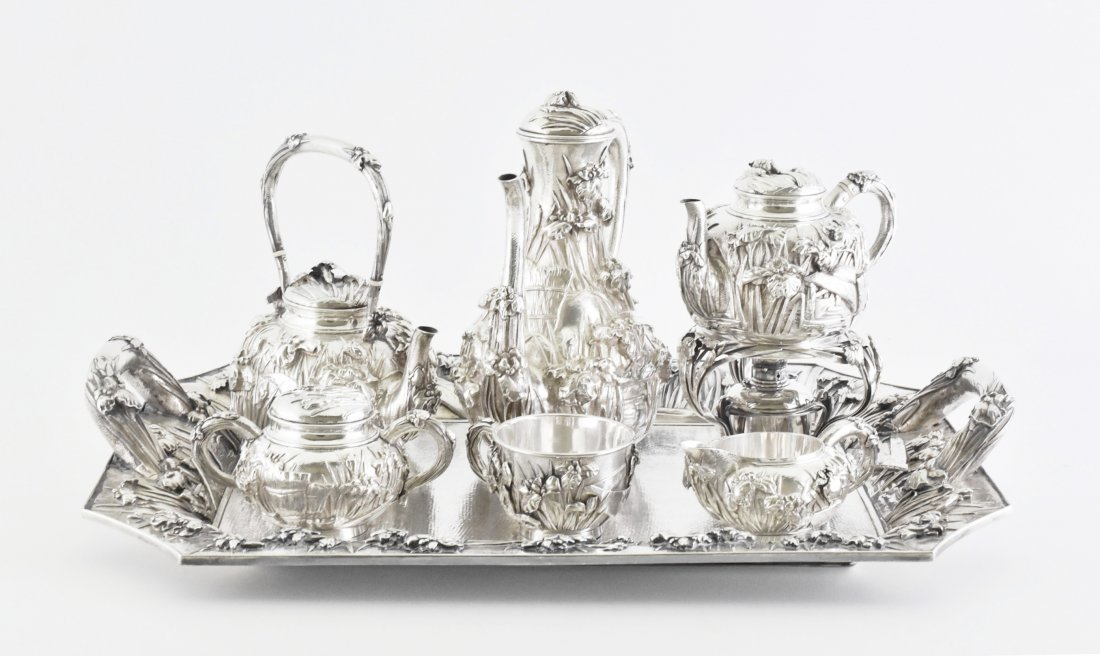 LARGE JAPANESE SILVER TEA SERVICE