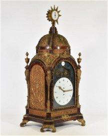 GEORGE III ORMOLU-TORTOISESHELL AUTOMATON ORGAN CLOCK